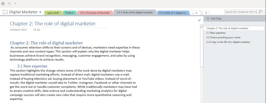 digital marketer book Eileen Brown BCS onenote